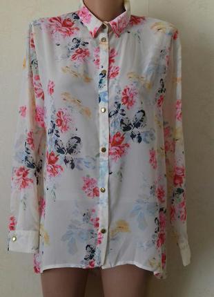 Блуза-рубашка с принтом atmosphere,большой выбор блуз и других вещей разных размеров