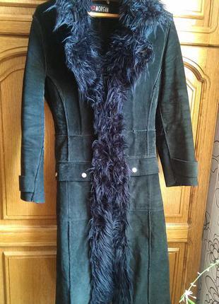 Пальто стильное замшевое morgan
