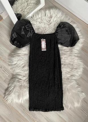 Платье с рукавами буффами