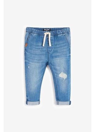 Next💫 стильные джинсы с потёртостями для мальчика