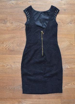 Черное мини платье открытая спина zara trafaluc xs-s