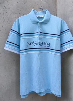 Оригинальная футболка поло yves saint laurent