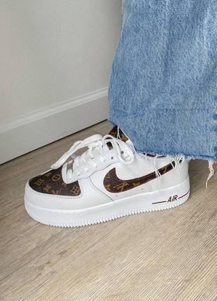 Шикарные женские кроссовки nike air force 1custom наложка
