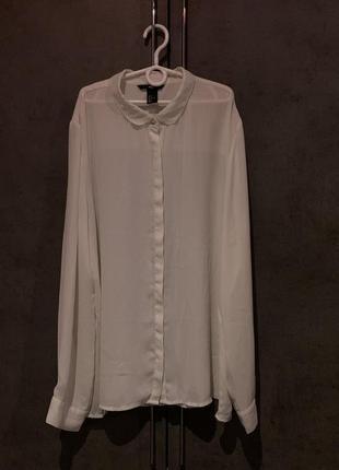 Атласная рубашка/ женская рубашка/ белая рубашка