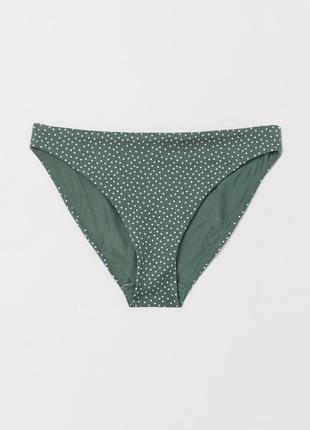 Плавки купальные трусы в горошек зеленые h&m