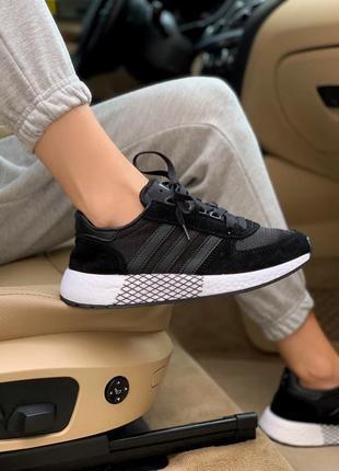 Новинка кроссовки унисекс adidas marathon black наложка