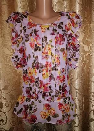 🌺🎀🌺стильная легкая женская, блузка, кофта, майка, топ в цветочный принт atmosphere🔥🔥🔥