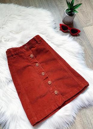 Вельветовая юбочка с пуговицами ❤️