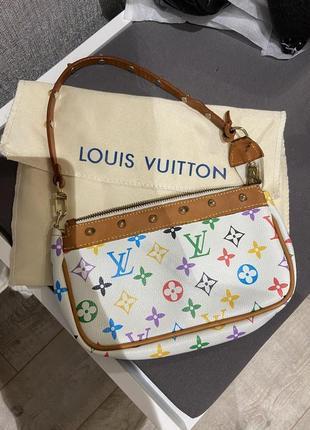 Шикарная винтажная сумка клатч багет louis vuitton монограмма