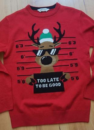 Рождественский новогодний реглан свитшот кофта