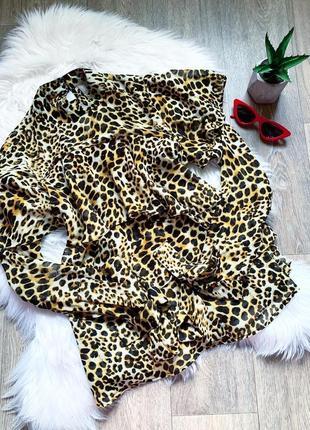 Новая леопардовая блуза с рюшами ❤️