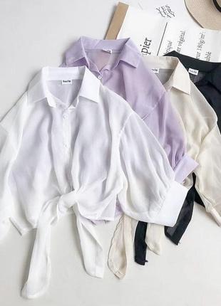 Красивые oversize рубашки блузки разные цвета