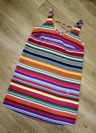 Стильное яркое платье р. l/12 papaya