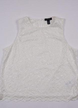 Кружевная блузка, блуза белая женская 16, 42, 44 xl