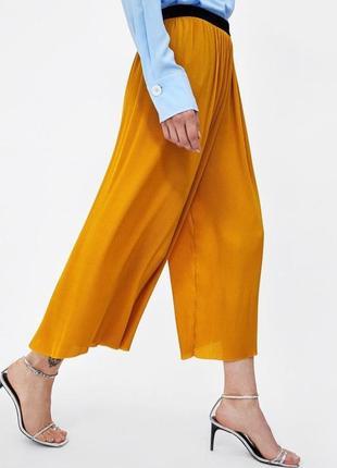 Стильные кюлоты юбка плиссе размер s zara оригинал