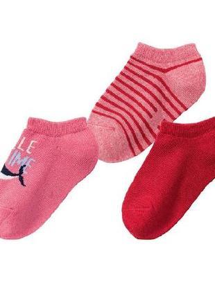 Детские носки, короткие, комплект носков, 3 пары 23-26, lupilu, германия