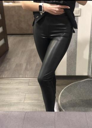 Новые кожаные лосины sinsay