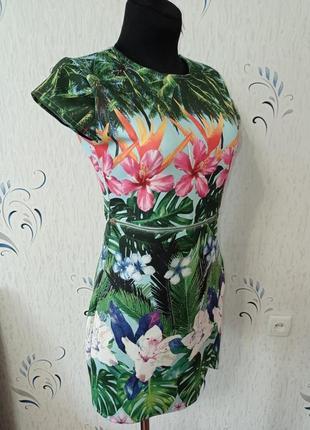 Яркое летнее платье. сток