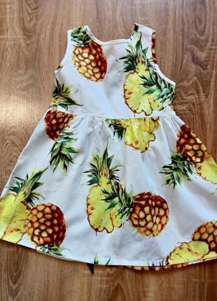 Летний сарафан с ананасом