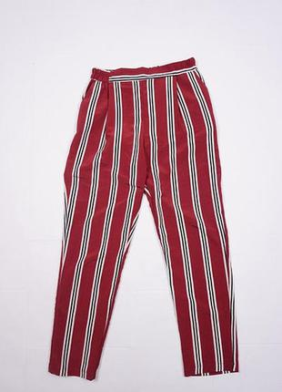 Стильные, красивые летние штаны, брюки женские в полоску. 34, 36 xs, s 6,8