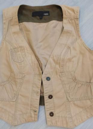 Жилетка джинсовая стильная