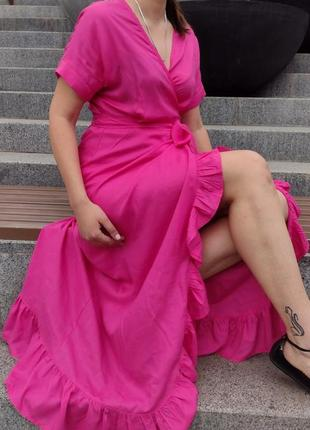 ❤️♥️❤️новинка лета!!!! платье штапель с запахом