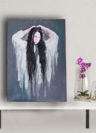 Интерьерная картина девушка в белом