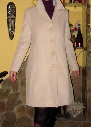 Красивое,стильное пальто l adore,цвет бежевый( кофе с молоком) раз производителя 42