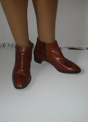 Итальянские кожаные ботинки ботильоны бренд vero cuoio