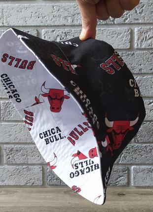 Панама двухсторонняя в стиле chicago bulls панамка унисекс