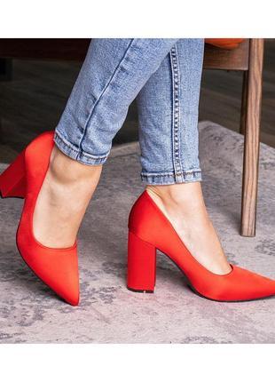 Атласные туфли,туфли атлас,неоновые туфли,алые туфли,лодочки,красные туфли