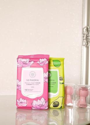 Маска для обличчя - sephora lotus 1 minute face masks із екстрактом лотосу
