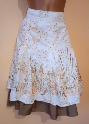 Распродажа !!! женская коттоновая юбка бренд vila