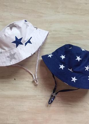 Панамка для мальчика, стильная панама, звезды, двусторонняя,капелюшок синяя, салатовая,яркая