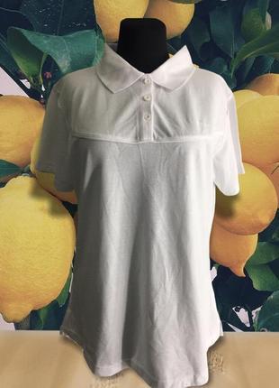 La gear белое поло футболка с воротничком спортивная