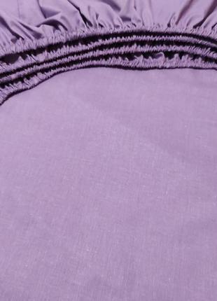 Простыни на резинке из плотной пакистанской бязи gold - пурпурный, все размеры
