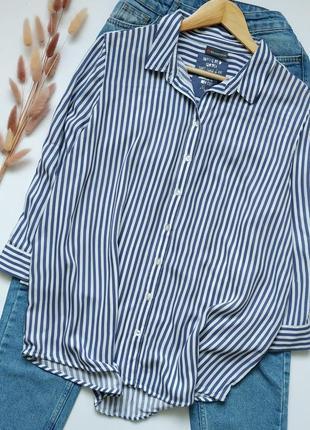 Красивая легкая рубашка свободного кроя