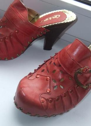 Туфли из натуральной кожи фирменные cripa. сабо. размер 38-39-40.