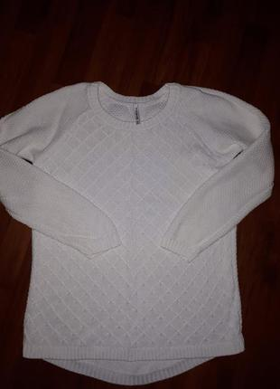 Белый свитер stradivarius размер s хлопок