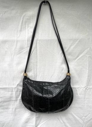Великолепная сумка с кожей змеи винтаж