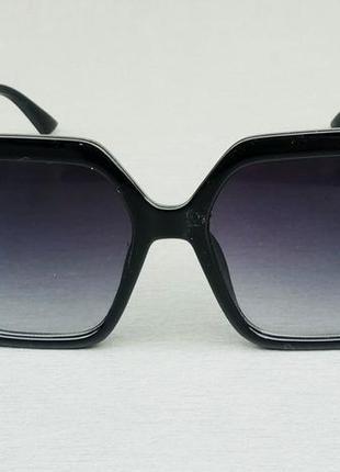 Fendi очки женские большие черные с белым логотипом градиент2 фото
