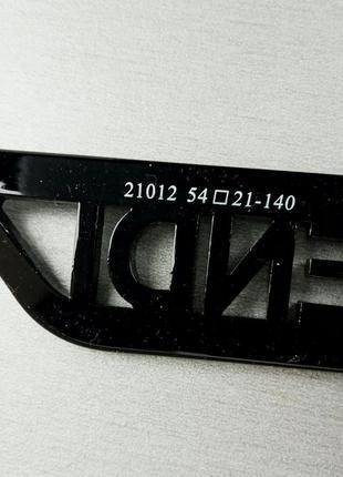Fendi очки женские большие черные с белым логотипом градиент6 фото