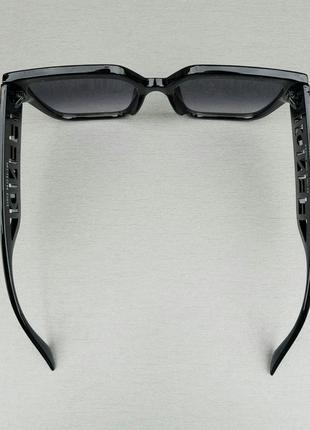 Fendi очки женские большие черные с белым логотипом градиент4 фото