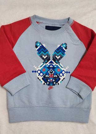Свитшот свитер кофта брендовая  nike на флисе 1-,1,5 года 80-86 р.