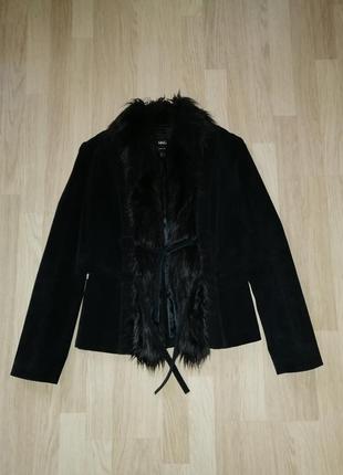 Пиджак замшевый черный, куртка mango