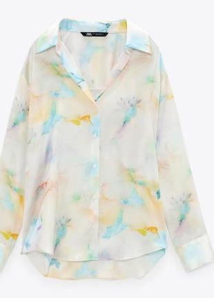 Женская летняя рубашка/женская лёгкая рубашка/ жіноча сорочка з v-подібним вирізом
