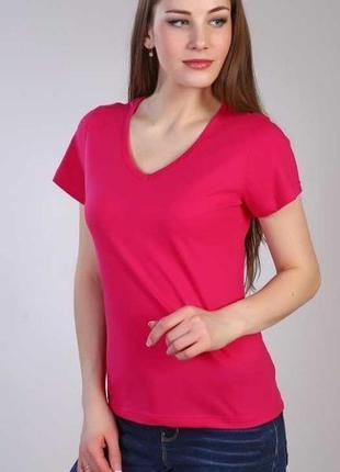 Новая женская футболка ярко малинового цвет м castro