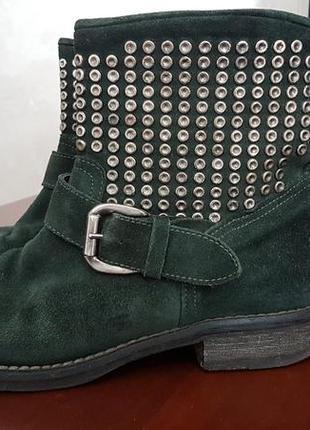 Замшевые ботинки vero cuoio