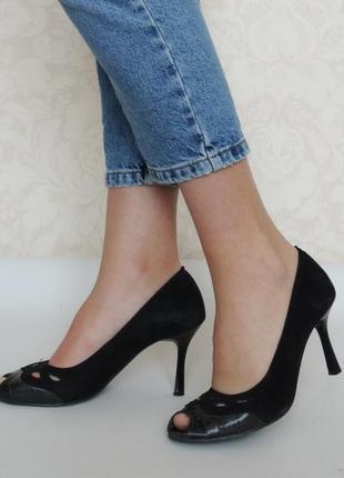 Кожаные туфли brado, польша, натуральная кожа