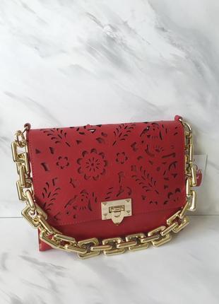 Стильная кожаная сумка клатч италия кожа